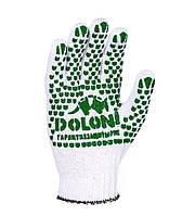 Рабочие хлопчатобумажные перчатки с ПВХ 7 класс Doloni 577