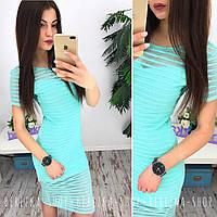 Платье облегающее миди лето сетка-трикотаж 2 цвета SMs1343