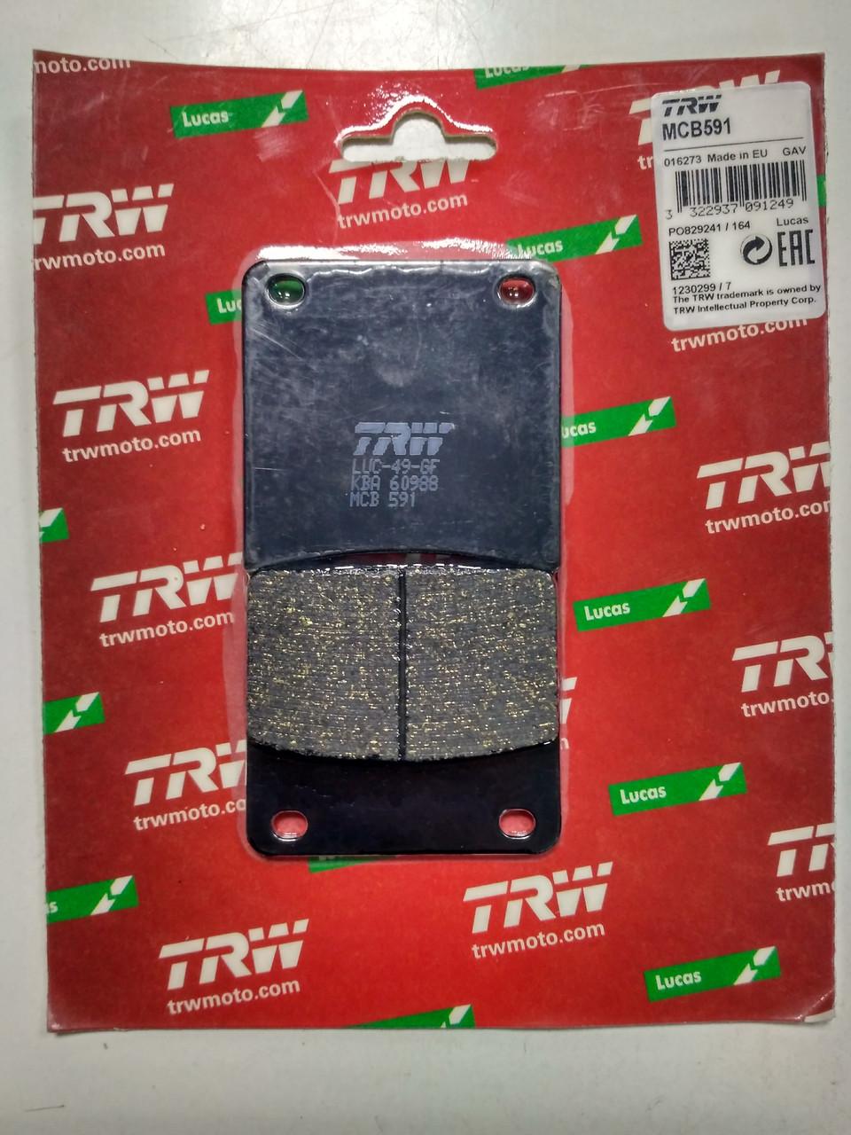 Комплект тормозных колодок TRW-LUCAS MCB 591