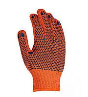 Рабочие перчатки трикотажные с двусторонним ПВХ 7 класс Doloni 584
