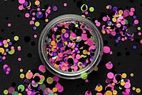 Камифубики (кружочки) конфетти для дизайна ногтей, KS-09