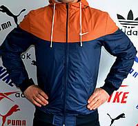 Ветровка-штормовка мужская Nike с коричневой вставкой