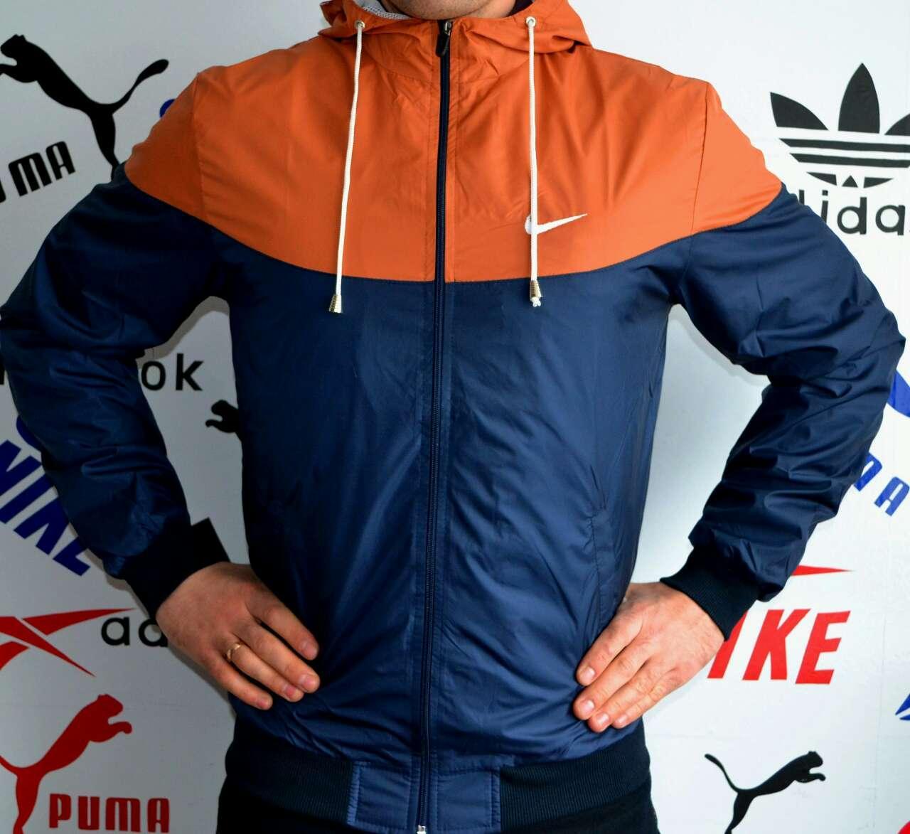 Ветровка-штормовка мужская Nike с коричневой вставкой - Интернет-магазин