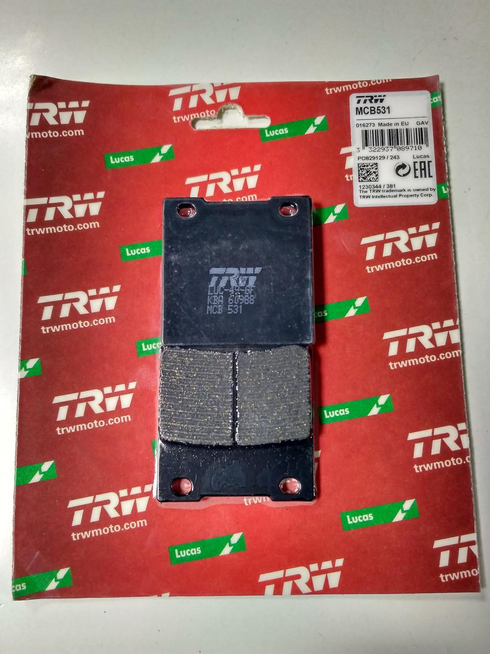 Комплект тормозных колодок TRW-LUCAS MCB 531