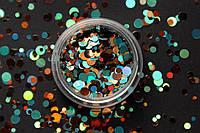 Камифубики (кружочки) конфетти для дизайна ногтей, KS-07