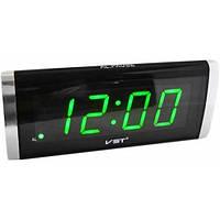 Электронные часы-будильник VST 730 дисплей с зеленой подсветкой цифр 4001066 часы будильник, настольные часы, настольные часы с будильником, часы