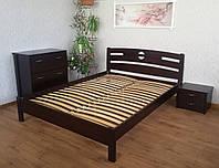 """Кровать двуспальная """"Сакура"""". Массив - сосна, ольха, дуб."""