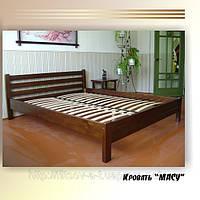 """Кровать двуспальная """"Масу"""". Массив - сосна, ольха, дуб."""