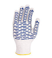 Рабочие перчатки ХБ с ПВХ 7 класс Волна 621