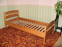"""Кровать односпальная """"Марта"""". Массив - сосна, ольха, дуб."""