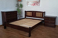 """Кровать двуспальная """"Афина - 2"""". Массив - сосна, ольха, дуб."""