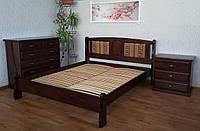 """Кровать полуторная """"Афина - 2"""". Массив - сосна, ольха, дуб."""