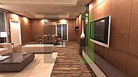 Дизайн-проект интерьера - гостиная loft
