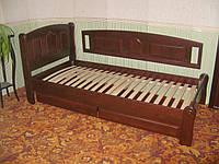 """Кровать односпальная """"Афина"""". Массив - сосна, ольха, дуб."""