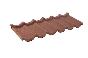Металочерепиця композитна 30 Coffee (0,45) 1 тайл Queen Tile