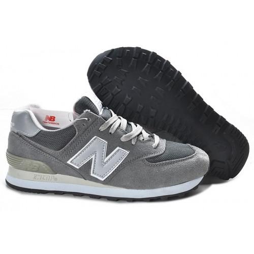 Кроссовки New Balance 574 Grey Silver Suede
