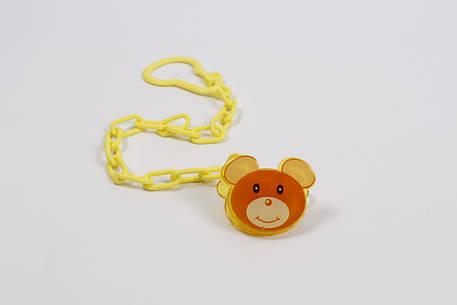 Клипса для пустышки на цепочке Мышка, фото 2