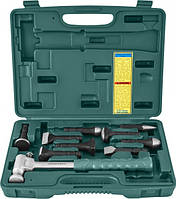 Многофункциональный молоток со сменными головками для жестяных работ 9пр Jonnesway AG010142