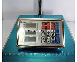 Весы торговые электронные ACS 100 KG, 30*40 с металлической головой, фото 2