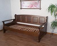 """Кровать односпальная """"Ян Марти - 3"""" (200*90). Массив - ольха. Покрытие - """"лесной орех"""" (№ 44)."""