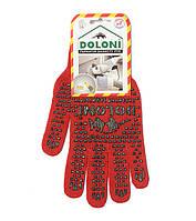 Рабочие перчатки ХБ с ПВХ Doloni 4216