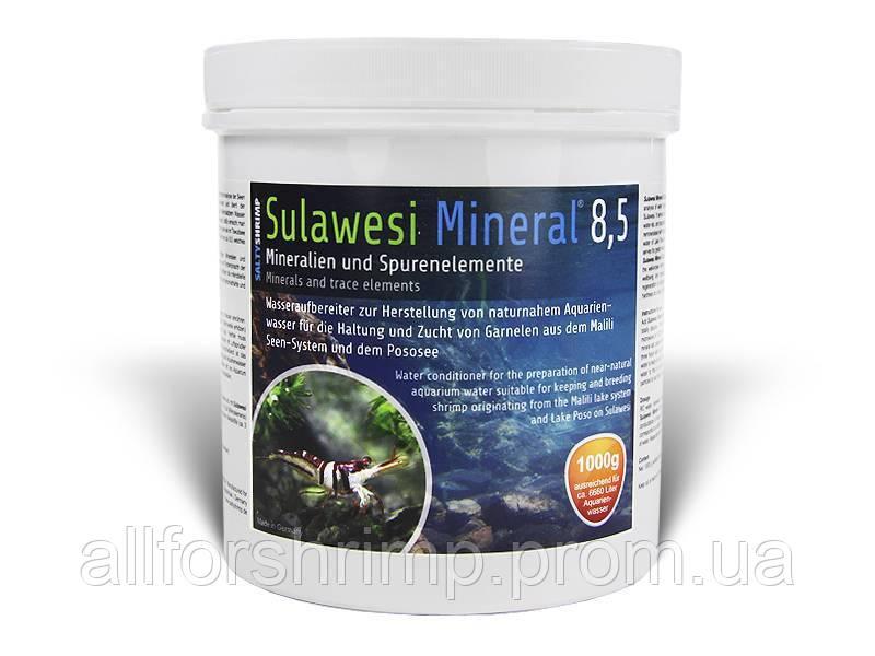 SaltyShrimp Sulawesi Mineral 8,5, минерализатор воды в виде порошка для креветок Сулавеси, 50г.
