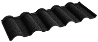 Металочерепица композитная 30 Verona Black (0,45) 6 тайл Queen Tile