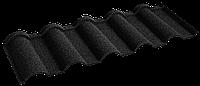 Металочерепица композитная 30 Verona Black (0,45) 1 тайл Queen Tile
