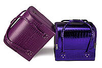 Кейс для косметики, фиолетовый лаковый