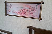 """Картина """"Ветка Сакуры"""". Покрытие - """"лесной орех"""" (№ 44)."""