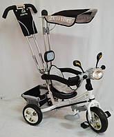 Трехколесный велосипед WS862EW-M (светящаяся фара), полиуретановыe колеса. Бежевый