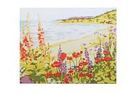 """Холст-расскраска под номерами """"Морской берег"""", (30*40см), с набором красок и кисточкой, E079"""