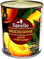 Персик дольный, десертный. Sanello Brzoskwinie 820g