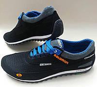 Кожаные спортивные кроссовки Salomon из турецкой сетки и подклада