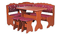 Кухонный уголок Цезарь (стол+диван+2 табурета)