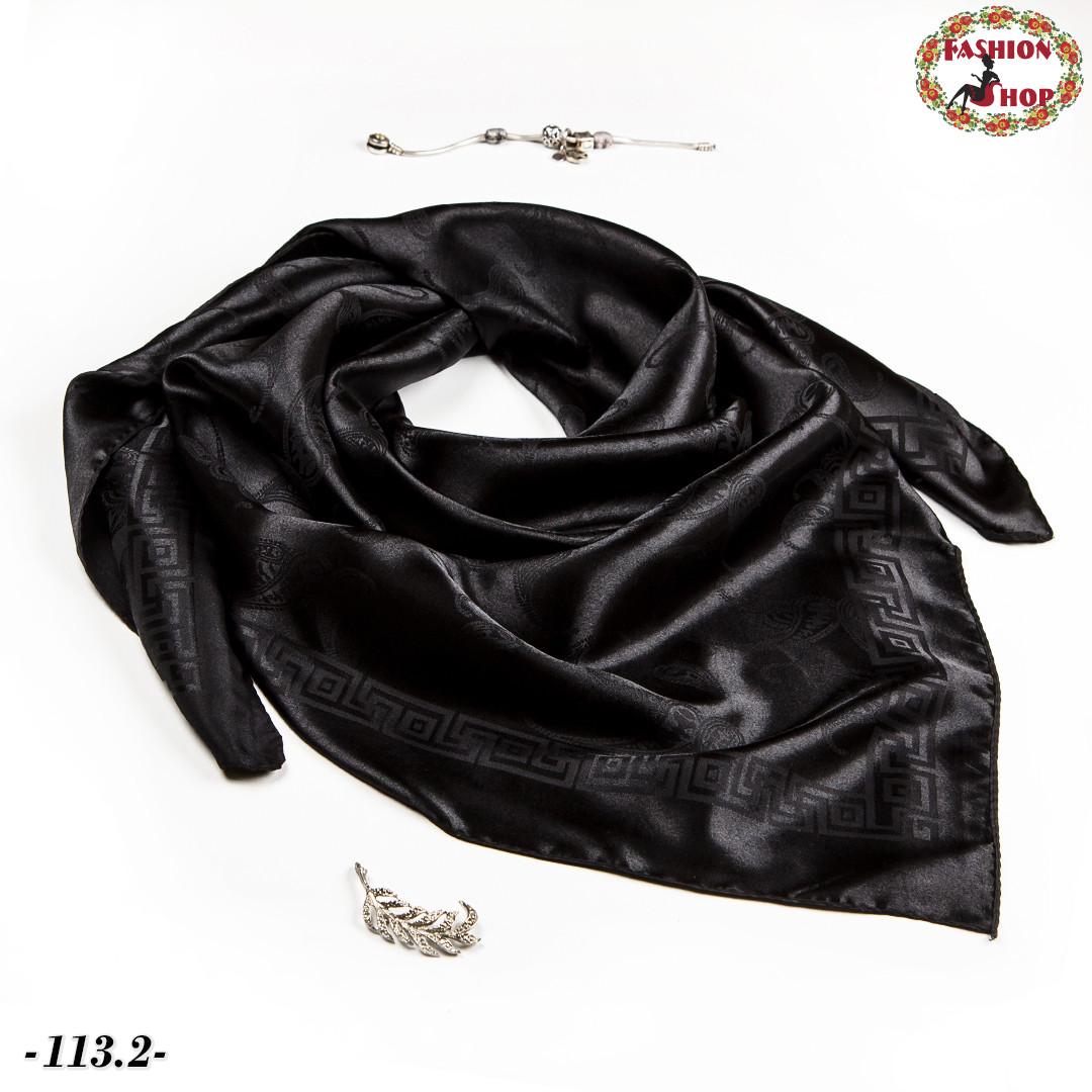 Стильна чорна хустка Марго