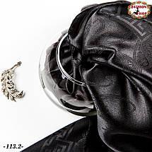 Стильна чорна хустка Марго, фото 3