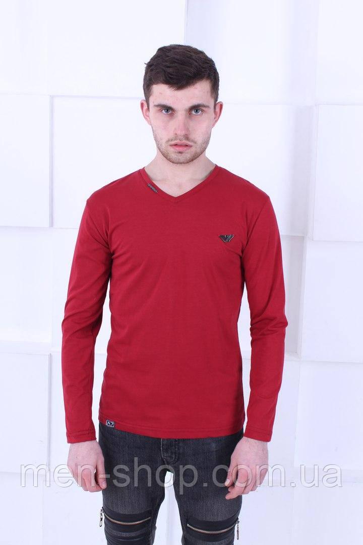 Красный лонгслив Armani