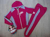 Спортивный костюм для девочки NIKE малина+серый р.152