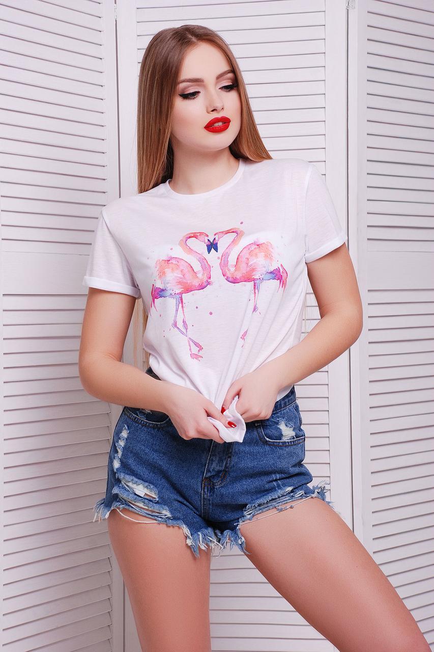 """Женская футболка """"Фламинго"""" Boy-2"""