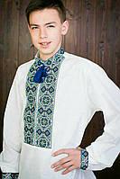 Мужская рубашка-вышиванка с воротником стойка