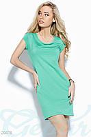 Стрейчевое платье мини.  Цвет бирюзовый.
