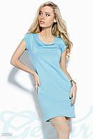 Стрейчевое платье мини.  Цвет голубой.