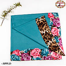 Женский шерстяной платок Цветочек, фото 2
