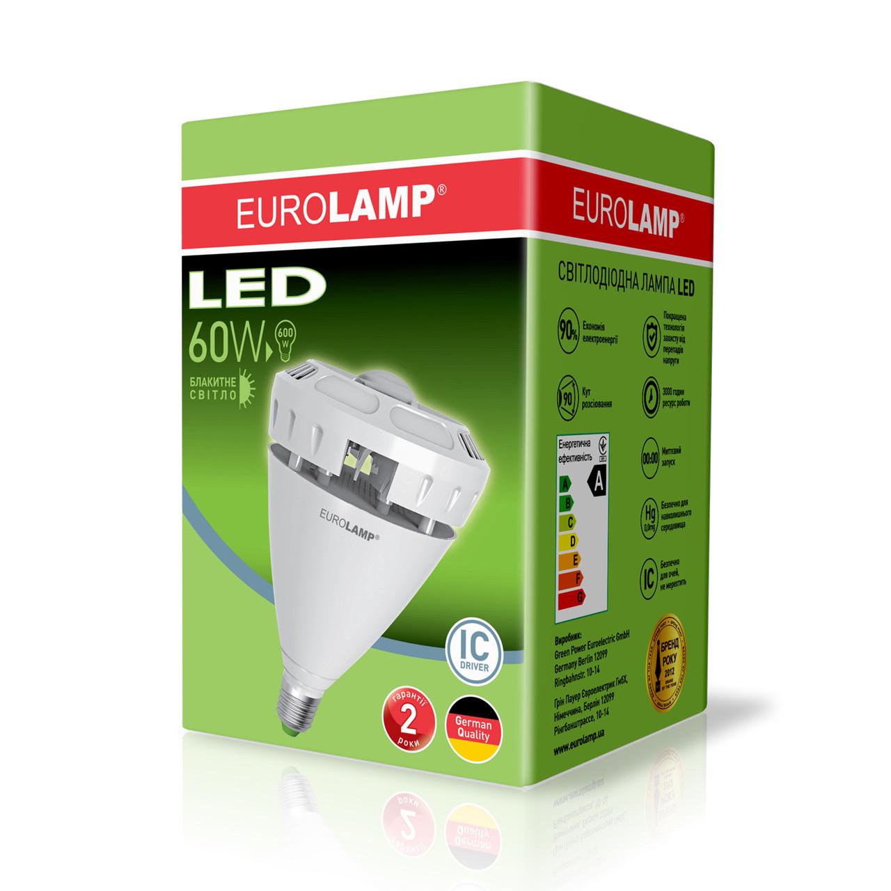 """Высокомощная led-лампа Eurolamp LED 60W E40 6000Lm Ra85 """"глазок"""" (LED-HP-60406)"""