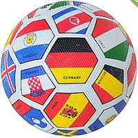 """Мяч футбольный """"FLAG"""", размер 5, резина, Grain зернистый, 350-370г, в пак. 28см  VA 0004/"""