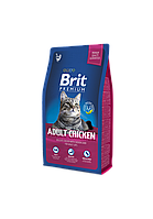 Brit Premium Adult Chicken корм для взрослых кошек с курицей, 8 кг, фото 1