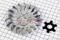 """Крыльчатка вариатора переднего (под вал 16мм) + шайба """"крест"""" Yamaha JOG90/STELS"""
