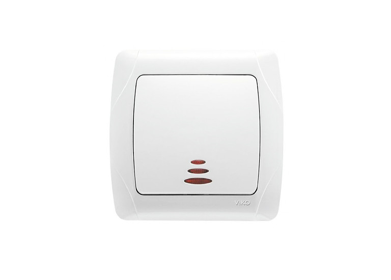 Выключатель VIKO CARMEN белый с подсветкой