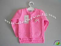 Детские вязанные кофты для новорожденных оптом. Турция. 3-6-9 мес. розовый